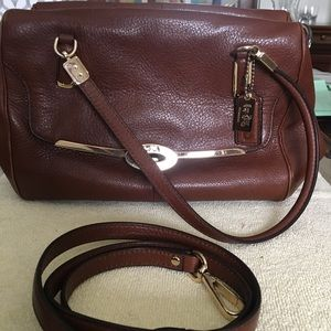 Coach Madeline leather satchel shoulder bag